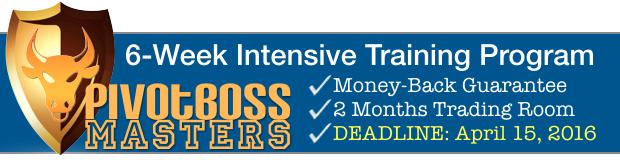 PivotBoss Masters Live Training Event Banner